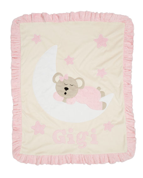 Boogie Baby Goodnight Teddy Baby Blanket, Pink