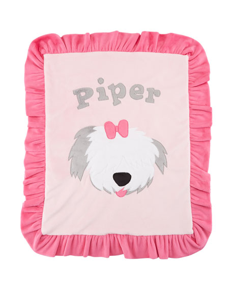 Boogie Baby Personalized Pup Love Plush Lovey, Pink