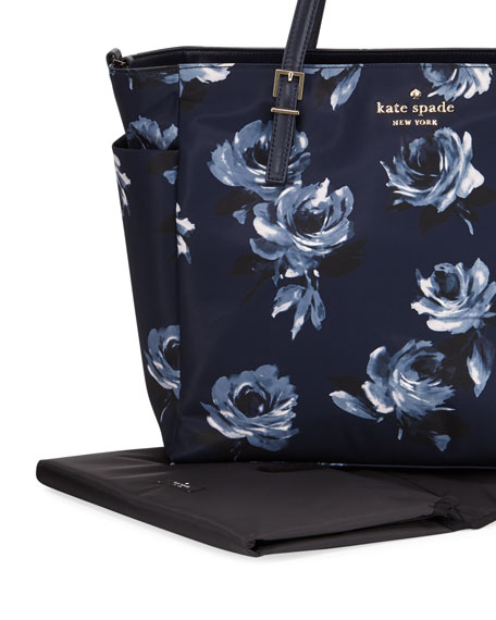 watson lane betheny rose-print baby bag