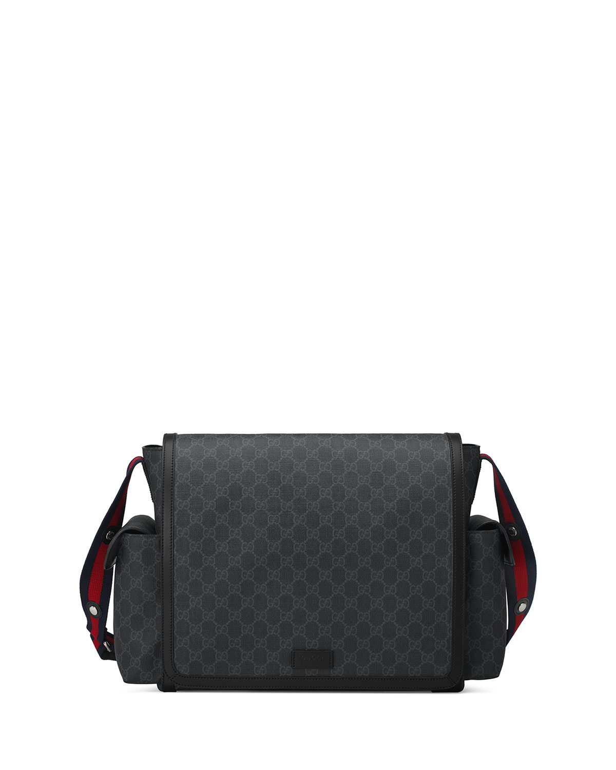 Basic Gg Supreme Canvas Diaper Bag Black