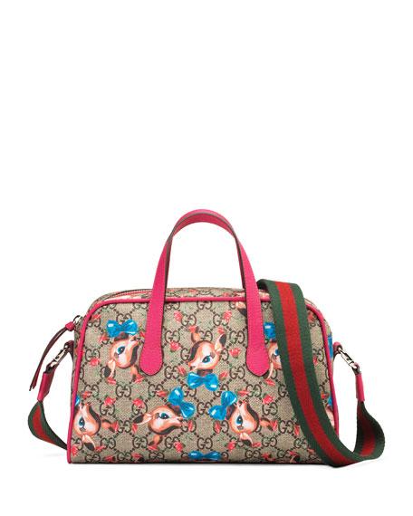 Gg Supreme Gucci Wolves Diaper Bag in Multi