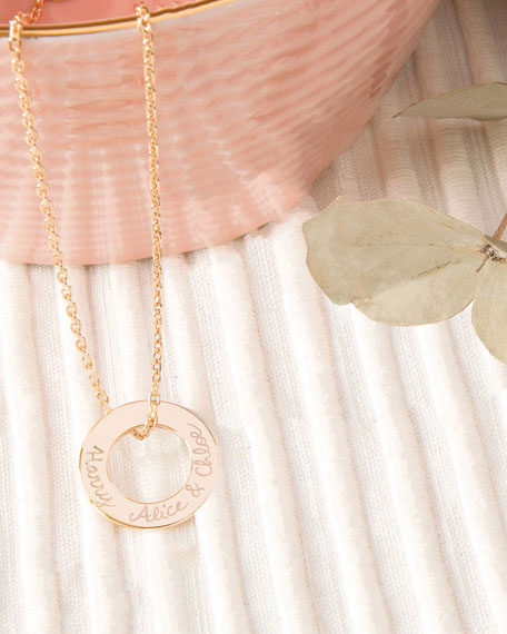 Merci Maman Personalized Eternity Necklace