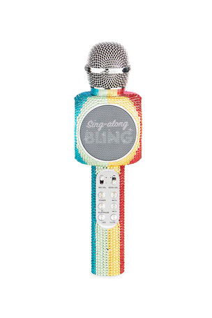 Wireless Express Rainbow Bling Wireless Karaoke Microphone