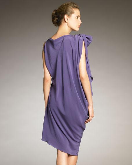Draped Half-Belt Dress