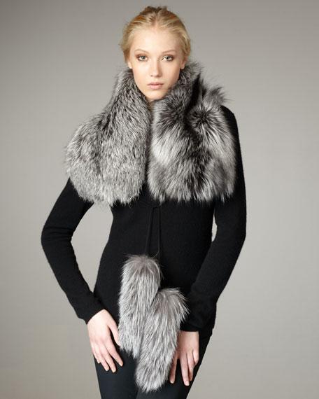 Fox Fur Stole, Silver