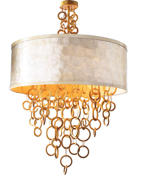 Golden Rings Chandelier