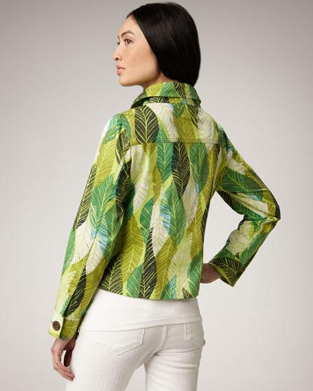 Leaf-Print Jacket, Women's