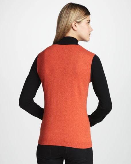 Colorblock Cashmere Sweater