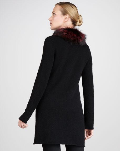 Fur-Collar Cardigan