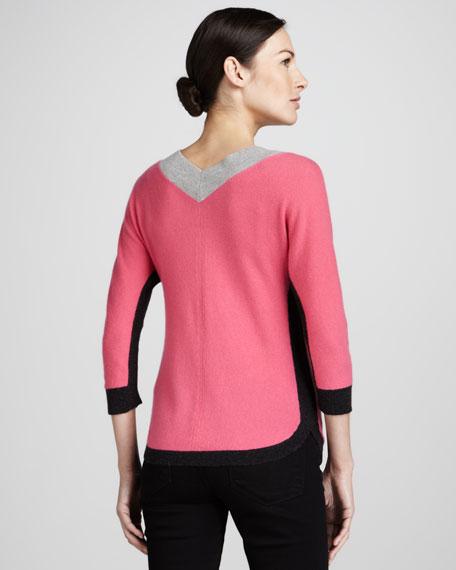 V-Neck Colorblock Sweater