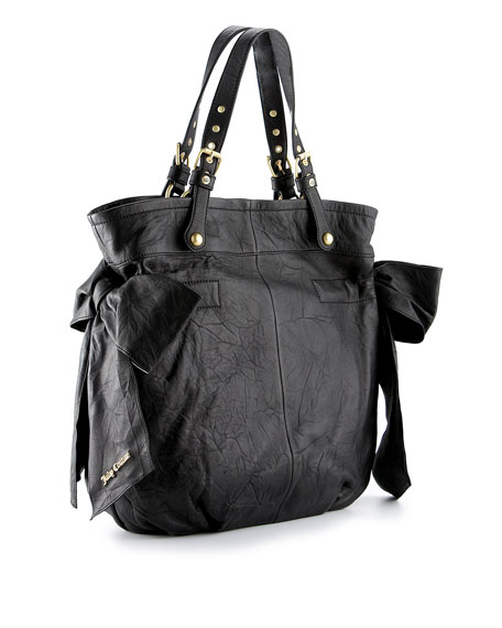 Leather Bow-Tie Tote