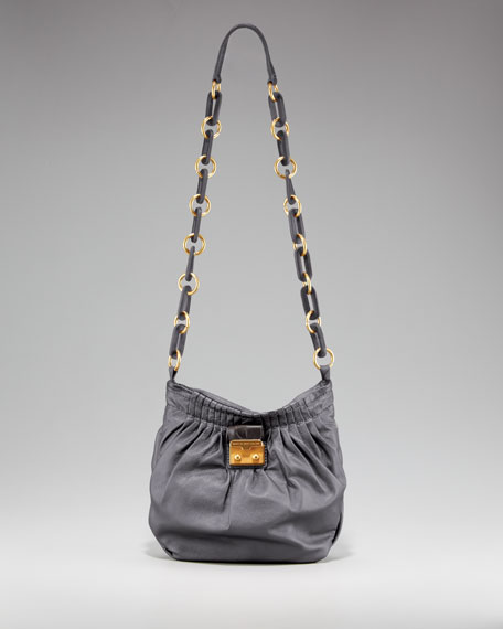 Pretty Napa Metallic Satchel