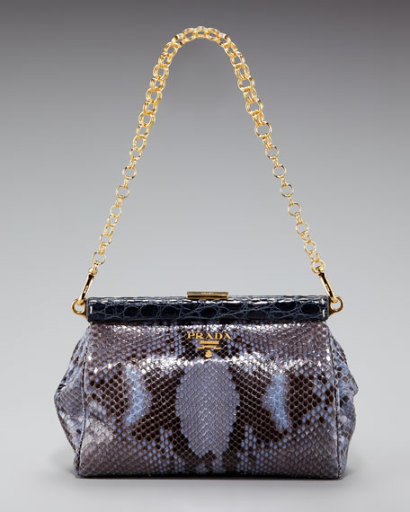 Python Frame-Chain Shoulder Bag