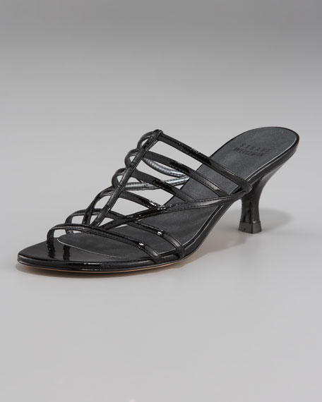 Kitten-Heel Strappy Slide