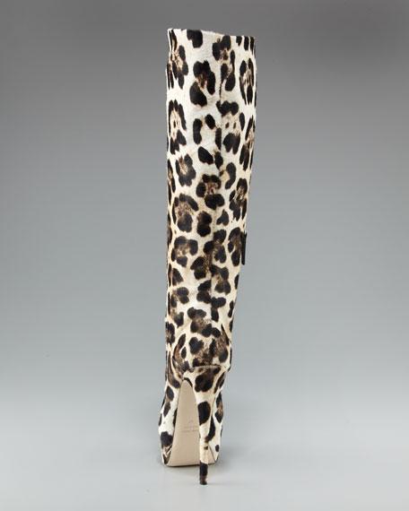 Leopard-Print Platform Boot