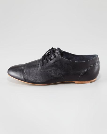 Avalon Leather Lace-Up Jazz Oxford, Black