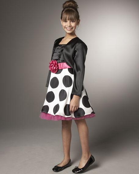 Big Polka-Dot Dress with Shrug