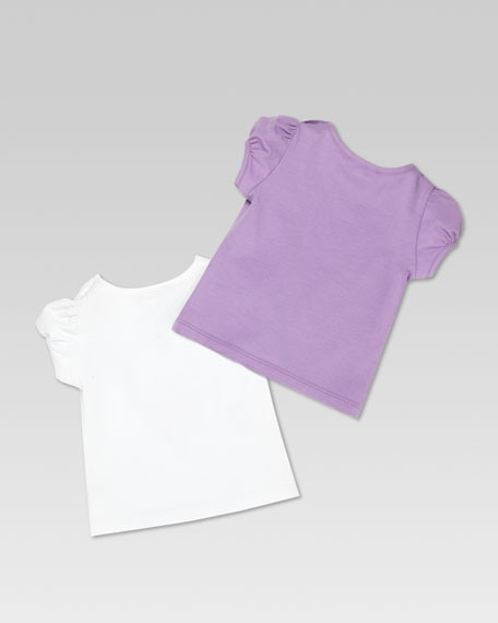 Gucci Sweets Set of 2 Tees, Purple/White