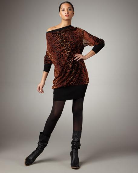 Off-Shoulder Leopard Tunic