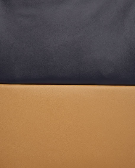 Waterfall Drape-Front Leather Jacket