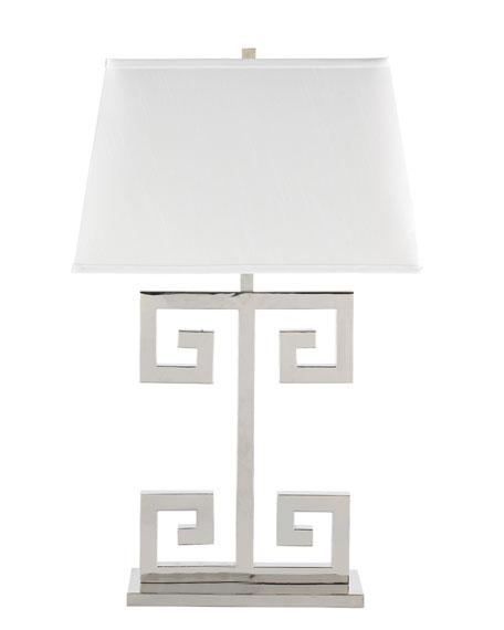 """""""Greek Key"""" Lamp"""