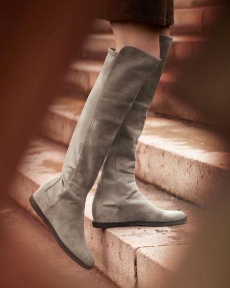 Elastic Side Wedge Boot