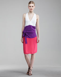 DSquared2 Colorblock Wrap Dress