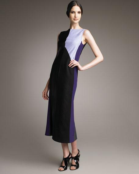 Colorblock Mid-Calf Dress