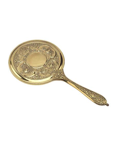 """Frasco Mirrors Antiqued Brass Hand Mirror, 5.5"""""""