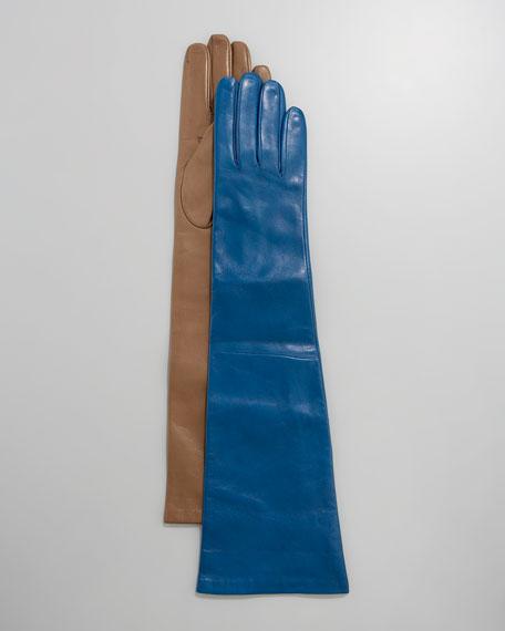 Ten-Button Elbow Leather Gloves