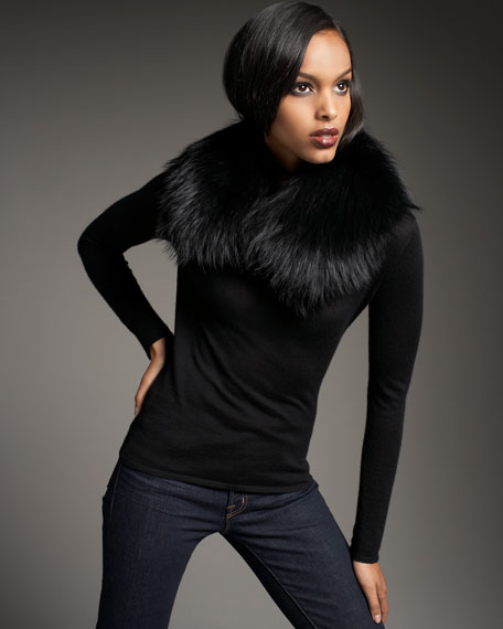 Raccoon Fur Collar, Black