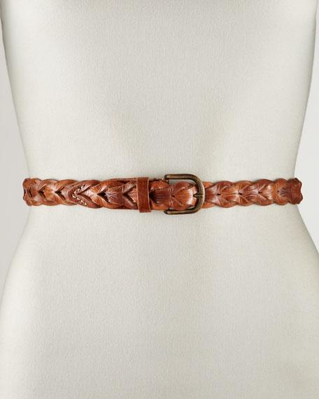 Braided Leather Belt, Medium