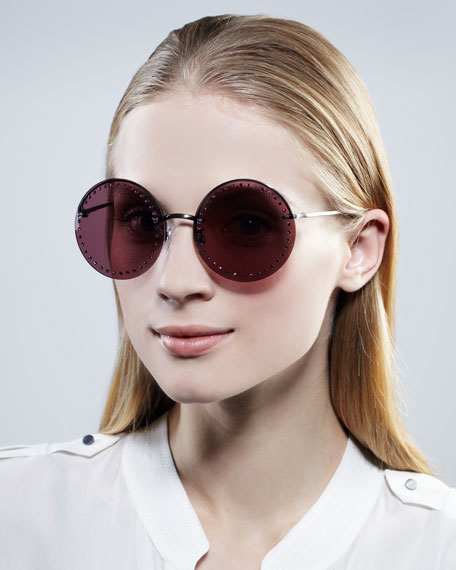NM + Target Beaded Round Sunglasses