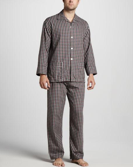 Plaid Pajama Set, Red