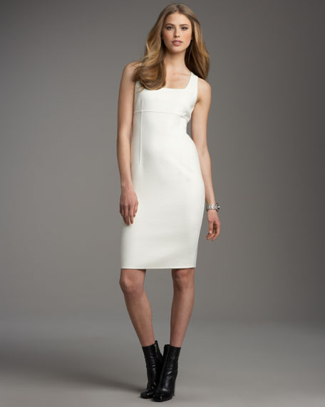 Seamed Doubleface Shift Dress