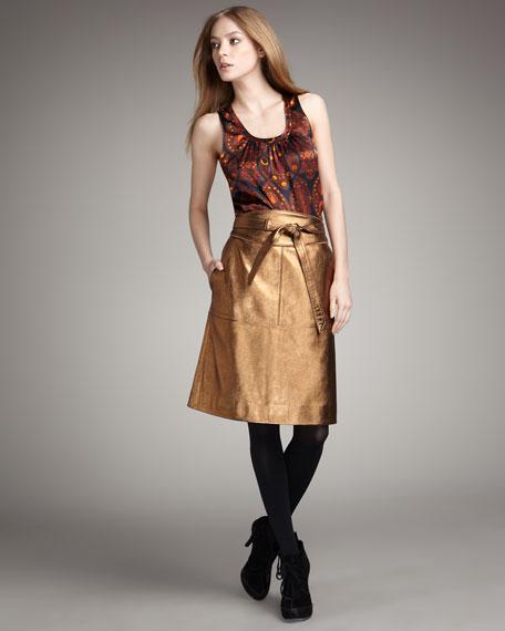Limelight Leather Skirt