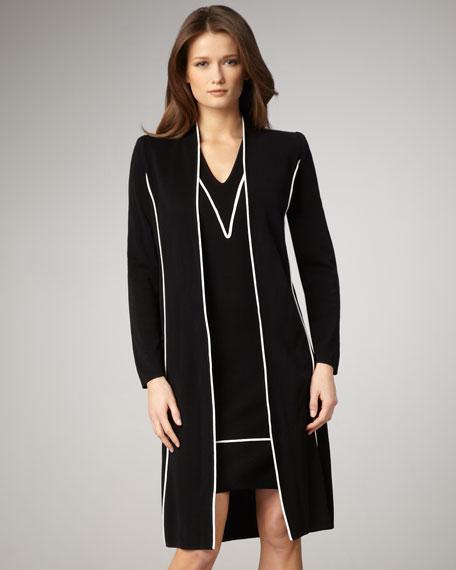 Contrast Long Jacket
