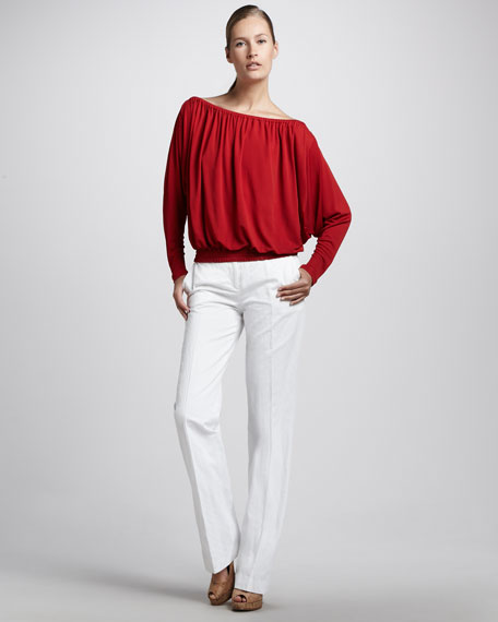 Crushed Cotton Sateen Pant