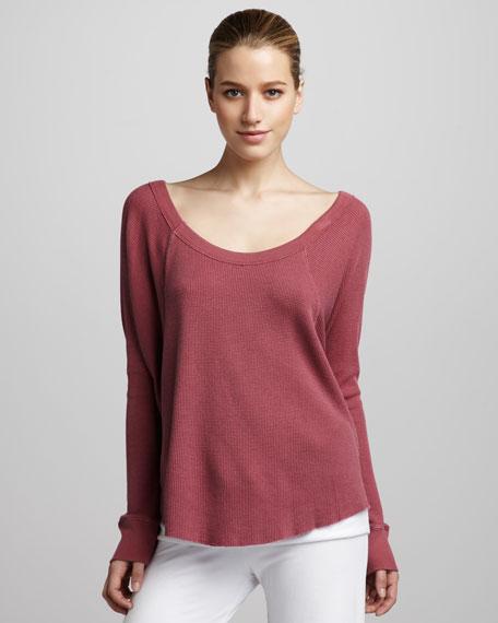 Thermal Boxy Sweatshirt