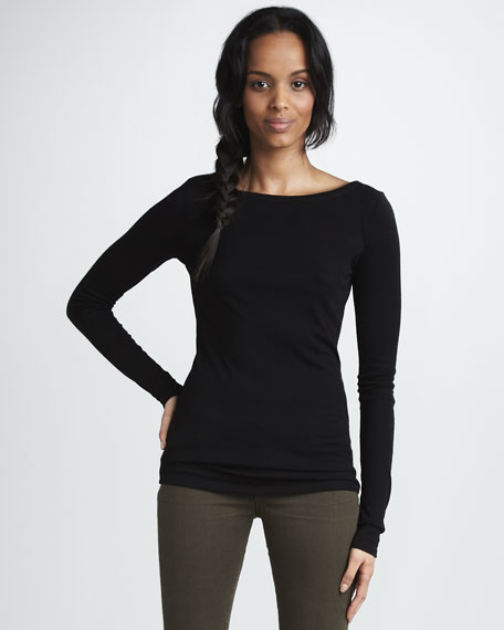 Ribbed Long-Sleeve Tee