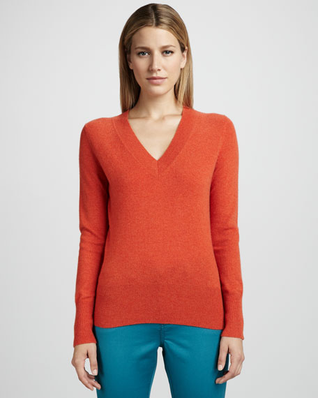 V-Neck Cashmere Sweater, Women's