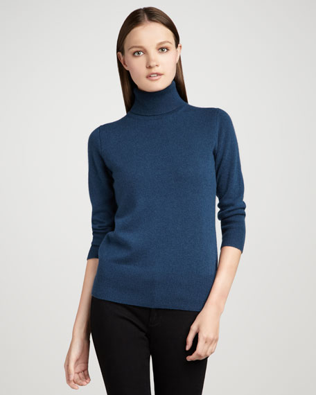 Cashmere Turtleneck Top, Women's