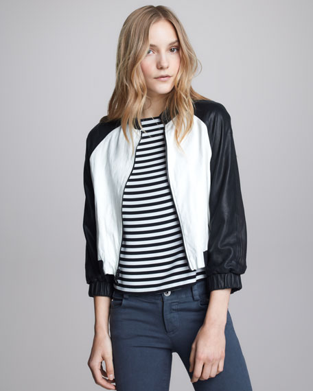 Two-Tone Bomber Jacket