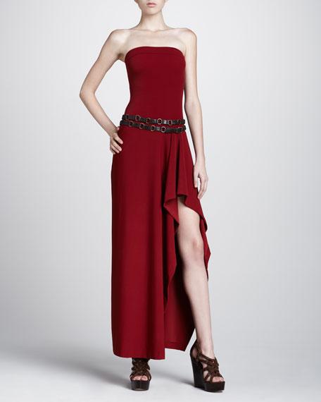 Strapless Coverup Maxi Dress, Cinnabar