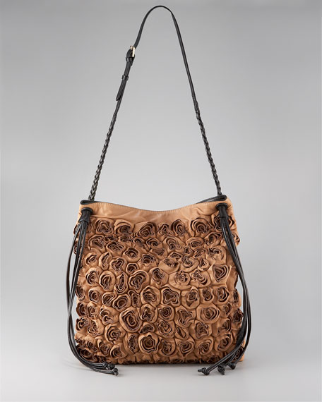 Iris Napa Roses Shoulder Bag