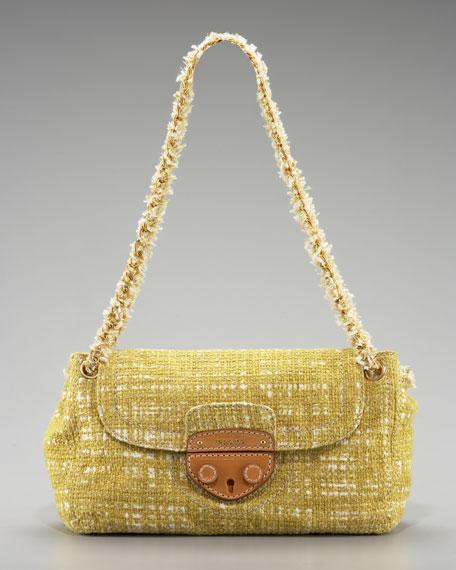 Tela Tweed Medium Shoulder Bag