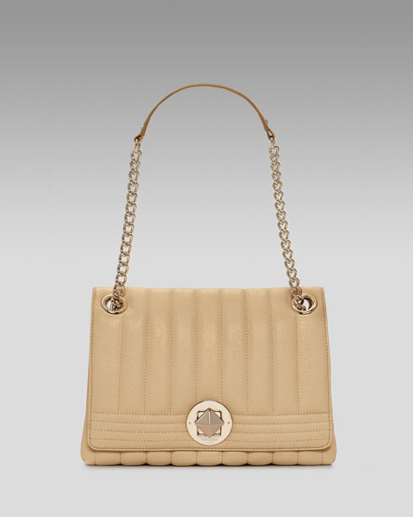 Evangeline Front-Flap Shoulder Bag