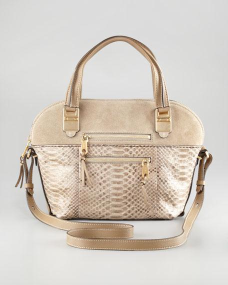 Angie Python Medium Shoulder Bag