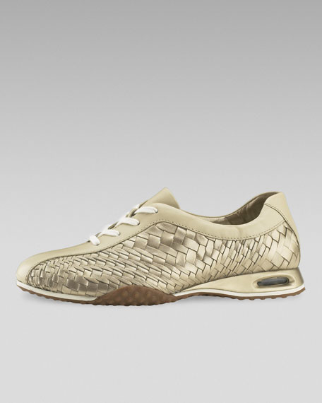 Air Bria Geni Woven Oxford, Gold/Sandshell