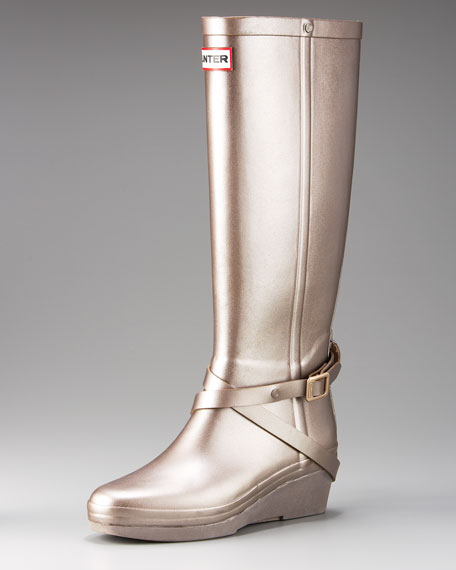 Wedge Rainboot with Ankle Belt